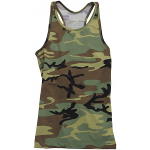 Womens Woodland Camouflage Performance Workout Tank Top