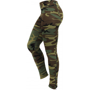 Womens Woodland Camouflage Performance Workout Leggings