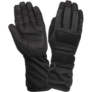 Black Tactical Military Fire Resistant Griplast Military Work Duty Gloves