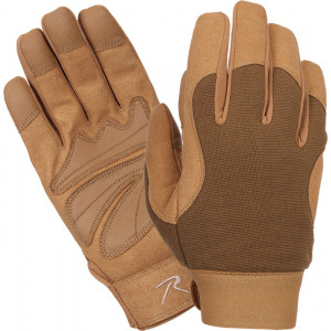 Coyote Brown Military Leather Mechanics Gloves
