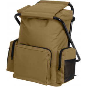 Coyote Brown Military Deluxe Backpack & Stool Combination