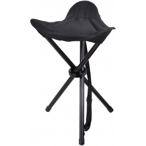 Black Nylon Military Collapsible Stool with Carry Strap