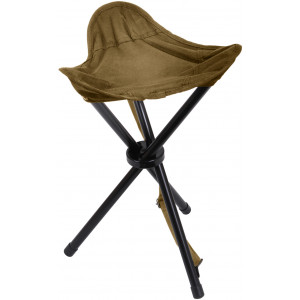 Coyote Brown Military Collapsible Stool with Carry Strap