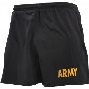 Black Physical Training Jogging ARMY APFU PT Workout Shorts