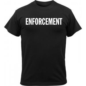 Black Tactical Enforcement 2-Sided Short Sleeve T-Shirt