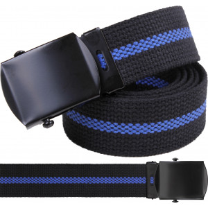 Black Thin Blue Line Support The Police Military Web Belt