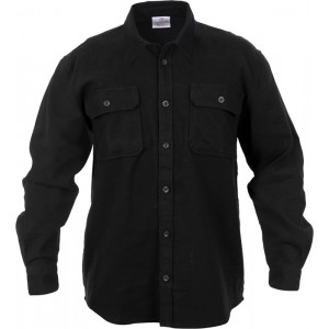 Black Extra Heavyweight Brawny Flannel Shirt