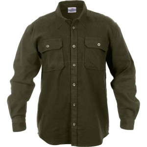 Olive Drab Extra Heavyweight Brawny Flannel Shirt