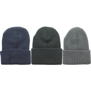 Heavyweight Worsted Wool Thick Ribbed Watch Cap Hat USA Made