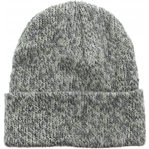 Grey Ragg Wool Double Layered Knitted Cold Weather Military Winter Watch Cap Hat