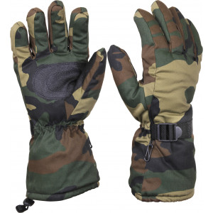Woodland Camouflage Waterproof ECWCS Thermoblock Cold Weather Insulated Gloves