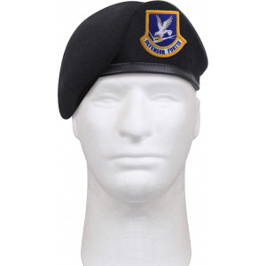 Midnight Navy Blue US Air Force Defensor Fortis Security Forces Inspection Ready Beret