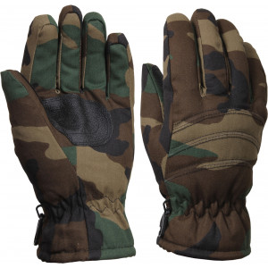 Kids Woodland Camouflage Insulated Gloves