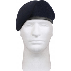 Midnight Blue Military Inspection Ready US Army No Flash Beret Hat