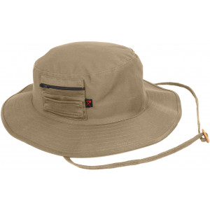 Khaki Wide Brim Military MA-1 Style Boonie Hat With Pocket
