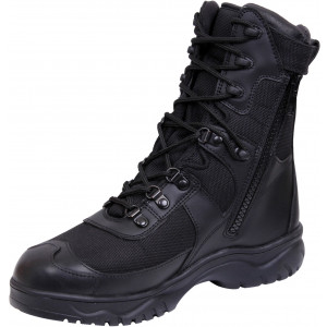 Black V-Motion Flex Speedlace Side Zipper Tactical Boot