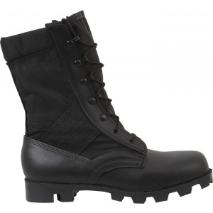 Black Military Speedlace Leather Jungle Boots