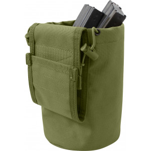 Olive Drab Military Roll Up MOLLE Utility Dump Pouch Bucket