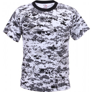 City Digital Camouflage Kids Military Tactical T-Shirt