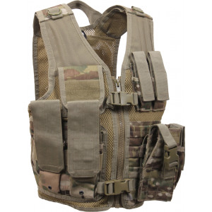 Kids Multi Cam Military Tactical Cross Draw Vest
