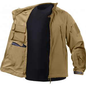 Coyote Brown Ambidextrous Concealed Carry Soft Shell Tactical Jacket