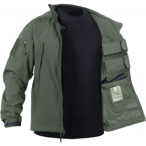 Olive Drab Ambidextrous Concealed Carry Soft Shell Tactical Jacket