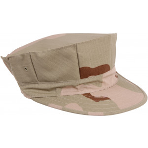 Tri-Color Desert Camouflage Military Rip Stop Marine Corps 8 Point Utility Cap
