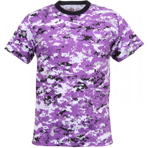 Ultra Violet Digital Camouflage Military Short Sleeve T-Shirt