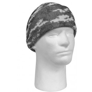 City Digital Camouflage Deluxe Knitted Winter Hat Acrylic Watch Cap