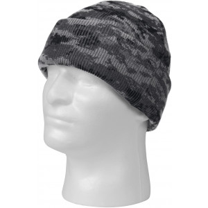 Subdued Urban Digital Camouflage Deluxe Knitted Winter Hat Acrylic Watch Cap