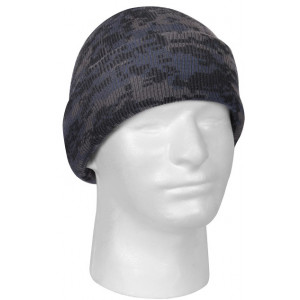 Midnight Digital Camouflage Deluxe Knitted Winter Hat Acrylic Watch Cap