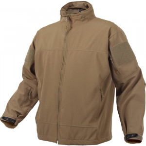 Coyote Brown Military Soft Shell Covert Light Weight Casual Waterproof Uniform Jacket