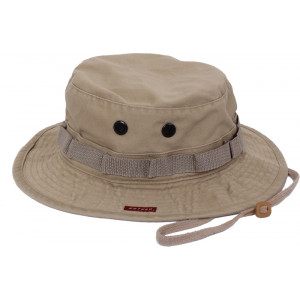 Khaki Vintage Military Tactical Wide Brim Boonie Hat