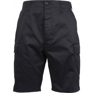 Black Military Zipper Fly Cargo BDU Combat Shorts