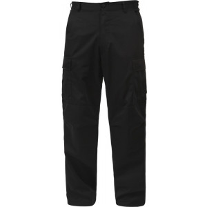 Black Military BDU 100% Cotton Cargo Rip-Stop Fatigue Pants