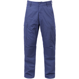 Navy Blue Military 100% Cotton BDU Cargo Rip-Stop Fatigue Pants