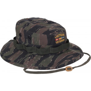 Tiger Stripe Camouflage Vietnam Veteran Military Wide Brim Boonie Hat