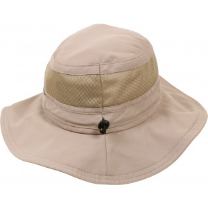 Khaki Vented Lightweight Adjustable Mesh Boonie Hat