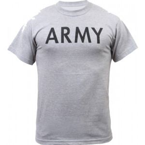 Grey Military Army Short Sleeve T-Shirt