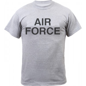 Grey Military Air Force Short Sleeve T-Shirt