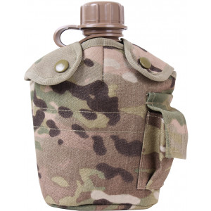 Multi Cam 1 Quart MOLLE Canteen Cover