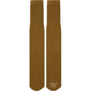 Coyote Brown Nyco Military Tube Socks - USA Made