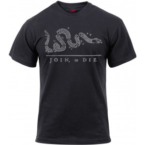 Black Join or Die Revolutionary War T-Shirt