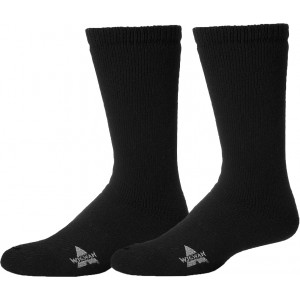 Wigwam Mens Black 40 Below Cold Weather Heavyweight Boot Socks Pair