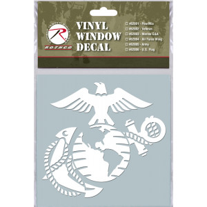 White Military Vinyl USMC Marines Clear Window Decal