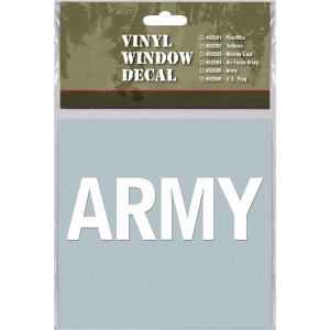 White Military Vinyl US Army Clear Window Decal