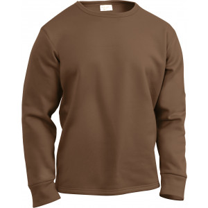 Brown ECWCS Thick Cold Weather Crew Neck Shirt Thermal Top Undershirt