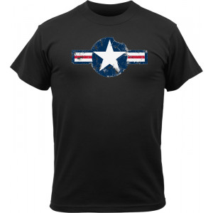 Black Vintage Military Army Air Corps Short Sleeve T-Shirt