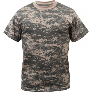 ACU Digital Camouflage Military Short Sleeve T-Shirt