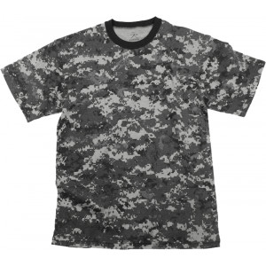 Subdued Urban Digital Camouflage Kids Military Tactical T-Shirt